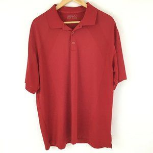 Nike Golf Fit Dry Polo Shirt Men XL Red Short Slee